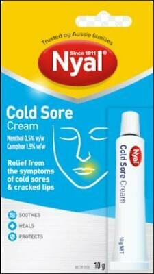 New 10g Nyal Cold Sore Cream Blister Treatment Cracked Chapped Lips Pain Relief