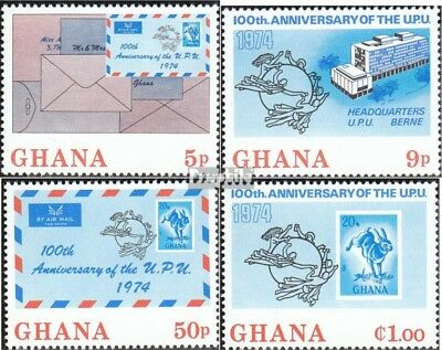 Ghana 548A-551A (complete.issue.) unmounted mint / never hinged 1974 UPU