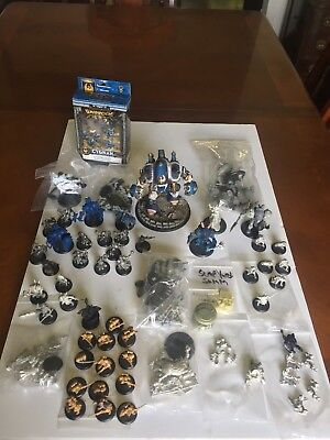 **200PT Cygnar Warmachine Army Collection Lot With PRO-PAINTED STORMWALL