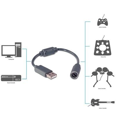USB Wired Controller Breakaway Cable Adapter for XBOX 360 Game Guitar Hero US