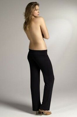 Bamboo Body Softline Essential Maternity Pants Black Size XL (16) yoga exercise