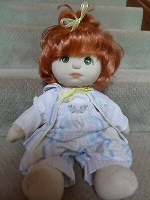 Cute Vintage My Child Doll Red Hair Green Eyes In Original Clothes #5