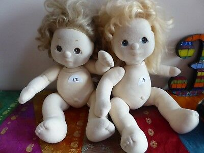 2 VINTAGE MY CHILD DOLLS for PARTS,  RESTORATION NEED TLC  #12 & 15