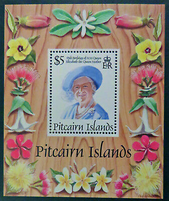1995 Pitcairn Islands Stamps - Queen Mothers 95th Birthday - Mini Sheet MNH