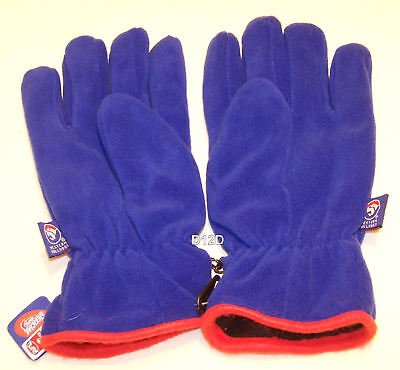 Western Bulldogs AFL Youth Blue Polar Fleece Gloves New