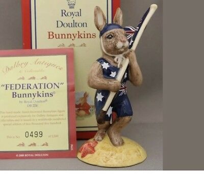 New Royal Doulton Bunnykins Federation- DB224 Limited Edition Box & Certificate.