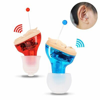 Mini Invisible In Ear Hearing Aid Aids CIC Small Sound Voice Amplifier Enhancer