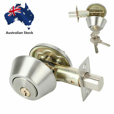 Chrome Single Cylinder Deadbolt Dead Bolt Door Lock for All Doors with Keys