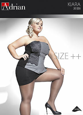 Plus Size Sheer Tights Kiara 20 Denier With Special Comfortable Gusset