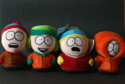 SOUTH PARK 1998 Comedy Central Bundle Cartman Stan Kenny Kyle Plush with tags