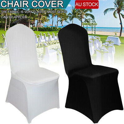 200x White Chair Covers Full Seat Cover Spandex Lycra Stretch Banquet Wedding AU