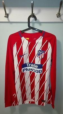Camiseta Shirt Atletico Madrid Player Issue Match Un Worn 17/18 First M Long