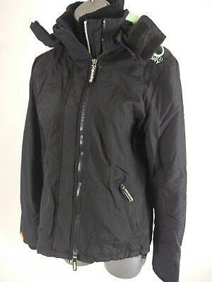 Womens Superdry Black & Mint Green Professional The Windcheater Jacket Small S