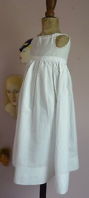 Baby's Vintage Long  White Cotton Petticoat~Display On Doll Or Bear~