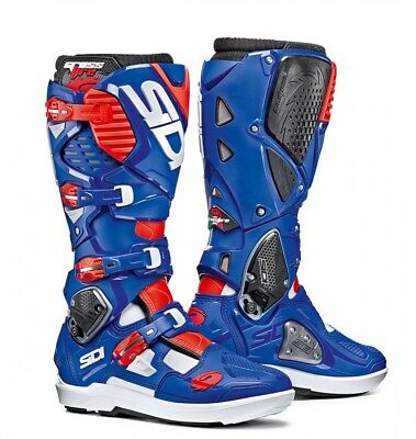 Sidi Crossfire 3 SRS Boots - White Blue Red Fluo UK 12 EU 47