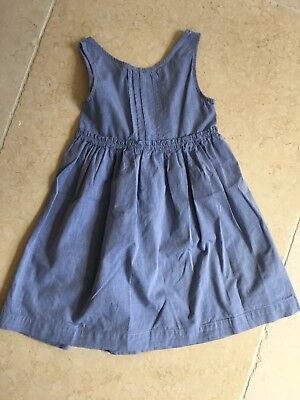 Little White Company Age 5-6 Blue Dress Excellent Condition