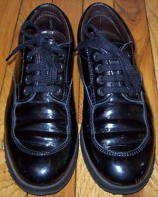 9fbdab26336 Nice Hogan Black Patent Leather Low-Top Lace-Up Sneakers/walking Shoes,