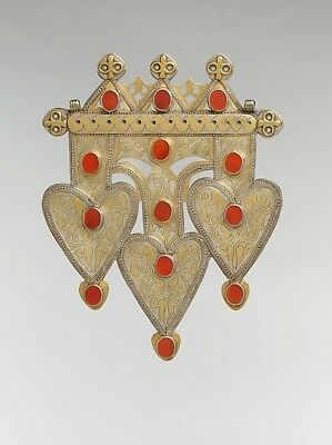 ":Triple Cordiform Pendant mid-late 19th century-16x12""(A3) Poster"