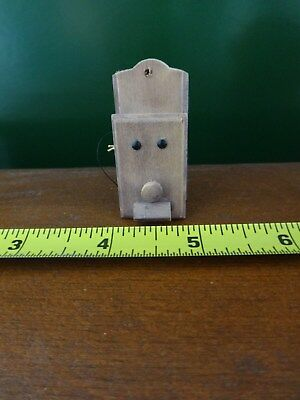 Dollhouse Miniature Wall Hanging Telephone Old Fashioned Wood