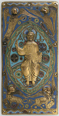 ":Plaque with Christ in Majesty 19th century-16x12""(A3) Poster"