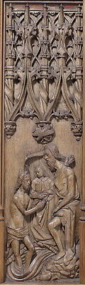 ":Panel with the Baptism of Christ early 16th century-16x12""(A3) Poster"