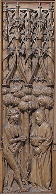 ":Panel with the Temptation of Christ early 16th century-16x12""(A3) Poster"
