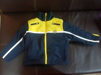 guess navy and yellow baby boy jacket size 18-24