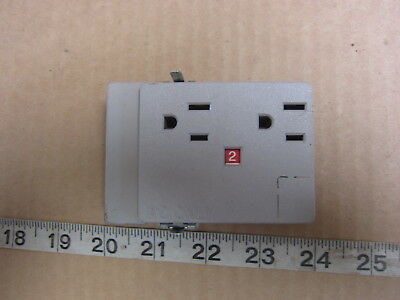 Haworth PRD-3B 15A 125V Straight Blade Duplex Receptacle 5-15R, Used