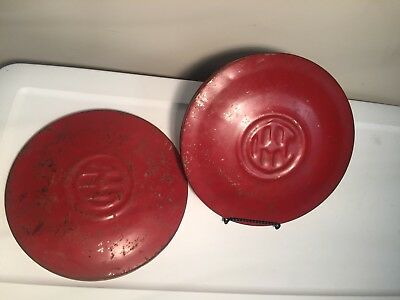 "Two international harvester Corn Planter Hopper Lid 10 1/2"" marked #13181AA ?"