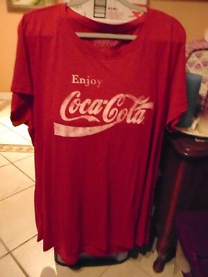 WOMEN S PLUS SIZE Coca Cola Vintage T-Shirt Heather Red Tee -  9.50 ... 634fa0e122