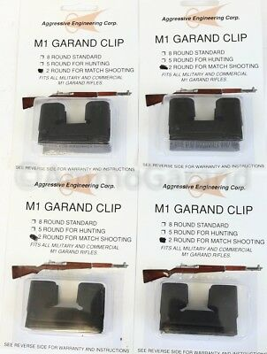 (4x) 2 Round Clips 2RD National Match NM for M1 Garand US Clip Part 2 Rd