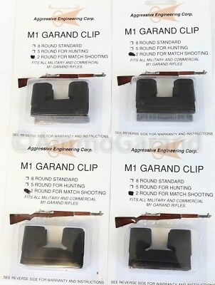 (4x) 2 Round Garand Clips 2rd for M1 National Match NM use US Clip Parts 2 Rd