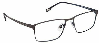 52ffaa1ef62 NEW Evatik Eyeglass E 9128 57-18-150 933 Grey Blue Eyeglasses Authentic