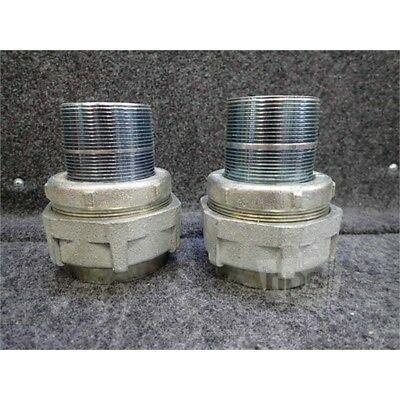 Lot of 2 Crouse-Hinds UNY605 Condulet Conduit Fitting Unions 2""