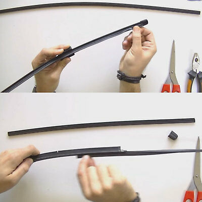 """28"""" Auto Car Rubber Frameless Windshield Wiper Wash Blade Refill Replacement"""