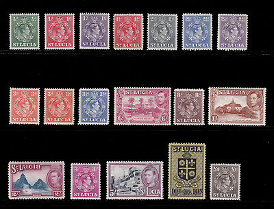 ST LUCIA. SG 128-141, 1/2d to £1. MOUNTED MINT.
