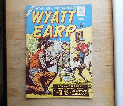 Wyatt Earp comic No. 37 from 1959, Western, cowboys, Miller UK