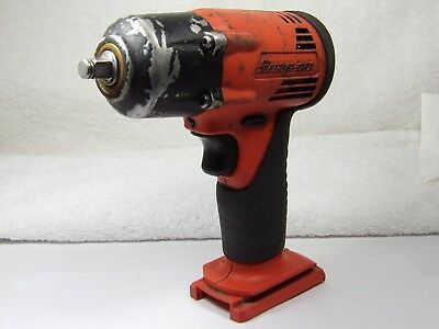 "Snap-on Tools CT4410A Orange 14.4 V 3/8"" Drive Cordless Impact Wrench WORKS GOOD"