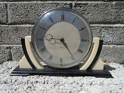 Antique Bakelite clock - Vintage Art Deco Smith's wind up clock mantle clock