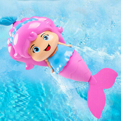 Baby Kids Mermaid Clockwork Dabbling Bath Toy Classic Swimming Water Wind UpHCUK