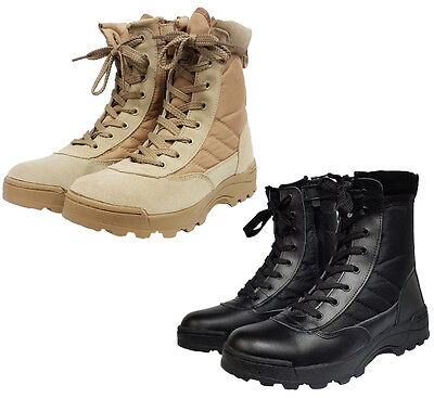Mens Work Tactical Cadet Military Army Ankle Boots Security Patrol Combat Shoes