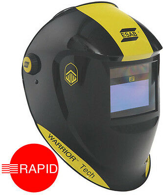 ESAB Warrior Tech Auto Darkening Welding Helmet Black, Shade 9 - 13