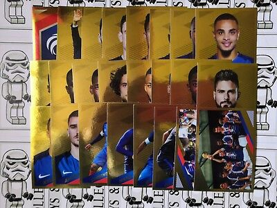 album panini carrefour fiers d être bleus 2018 sticker album STICKER VERSION OR