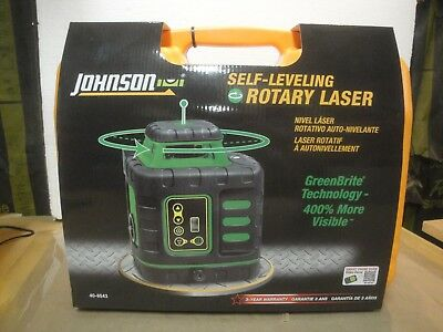 Johnson 40-6543 Self-Leveling Rotary Laser Level w/ GreenBrite Technology   2c