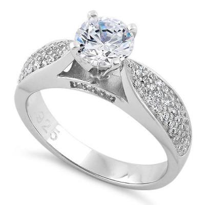 Melchior Jewellery Sterling Silver Solitaire Engagement Ring Gift Boxed