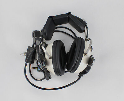 Ex RAF Racal Aircraft Head Set With Boom Microphone [PAL]