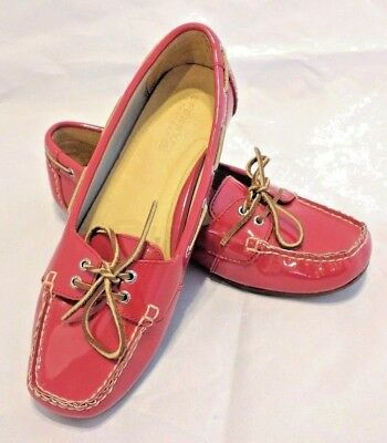 20ec84ffa69 SPERRY TOP-SIDER RED Patent Leather Loafers Boat Shoes Women s Size ...