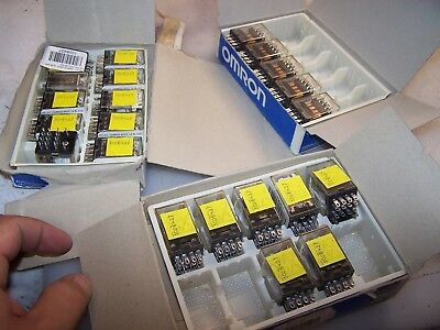 (22) New Omron 120 Vac Gp Cube Relay 14 Rail Type My4N  Box Of 22