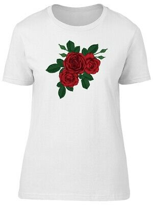 Tattoo Style Beautiful Red Roses Women's Tee -Image by Shutterstock