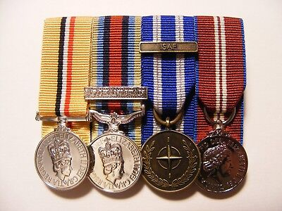 Iraq, OSM Afghanistan, ISAF, Queens Diamond Jubilee Miniature Medals Mounted